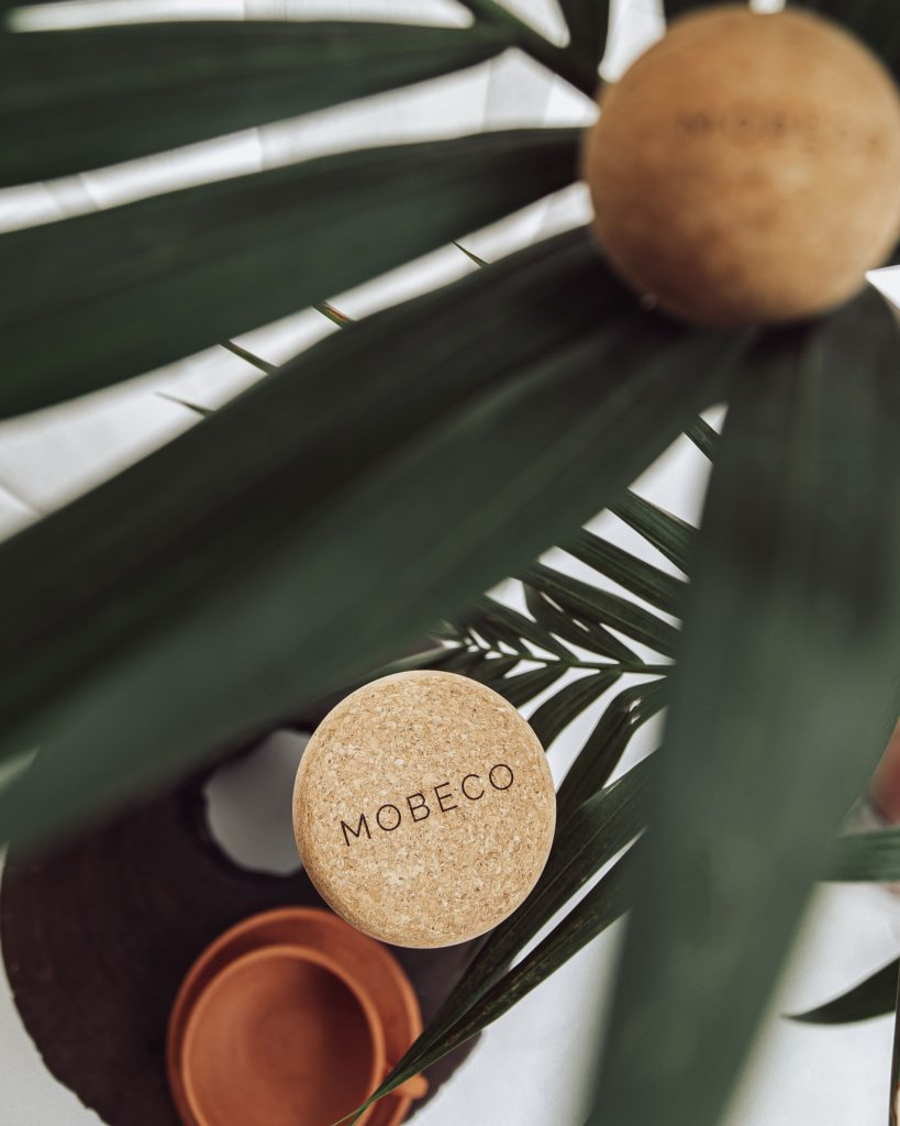 Product styled image of mobeco cork roller and ball