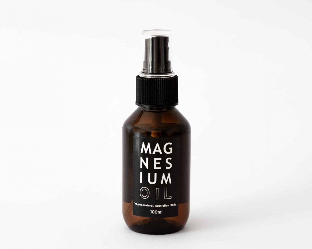 Salt lab magnesium oil product shot on white background